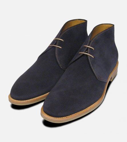 John White Westbury 4 Mens Navy Blue Suede Chukka Boots