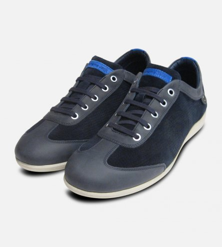 Panama Jack Trainers Norwell Navy Blue Leather Sneakers