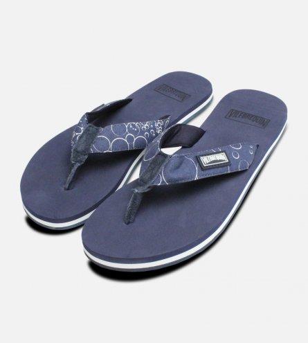 Vilebrequin Navy Turtle Bubbles Sandals
