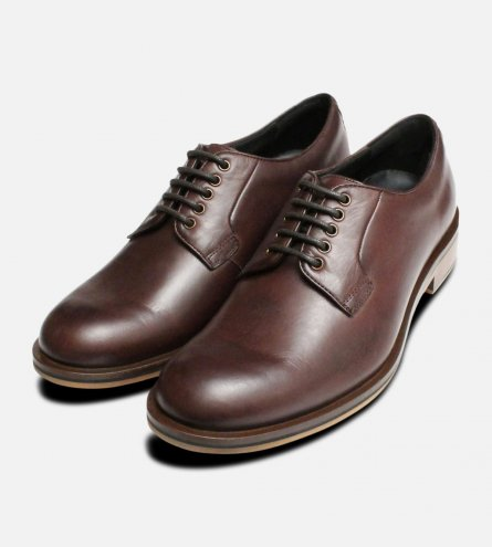 Plain Toe Brown Thomas Partridge Lace Up Shoes
