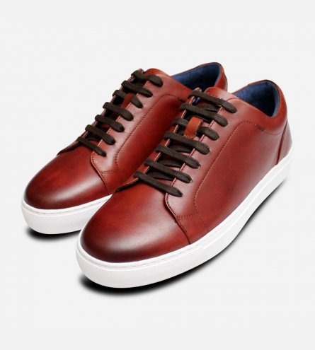 Luxury Oliver Sweeney Hayle Cupsole Trainers in Brown