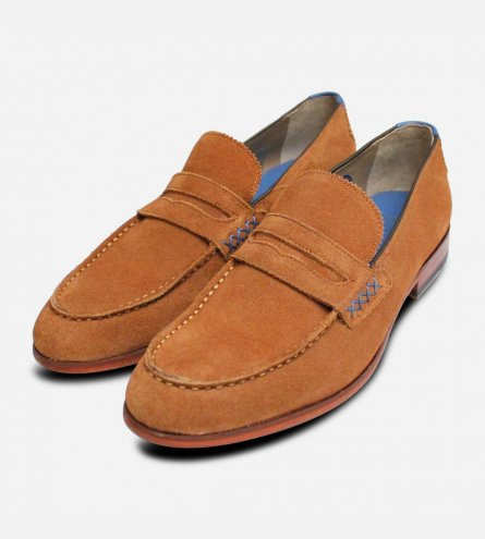 Oliver Sweeney Longbridge 2 Whisky Tan Suede Loafer Shoes