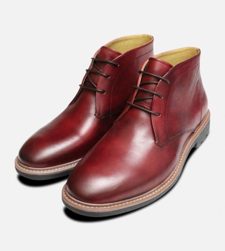 Oxblood Burgundy Chukka Boots by Steptronic Shoes