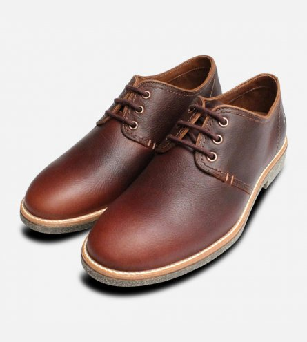 Panama Jack Mens Goodman Lace Up Shoes in Chestnut