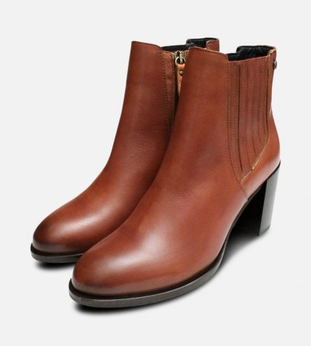 Cognac Brown Heeled Tommy Hilfiger Penelope Boots