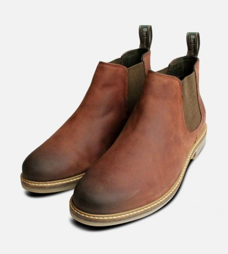 Mens Barbour Penshaw Chelsea Boots in Waxy Brown