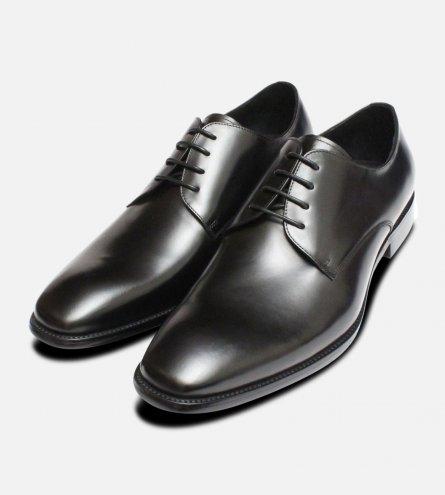 Formal Black Mens John White Lace Shoes