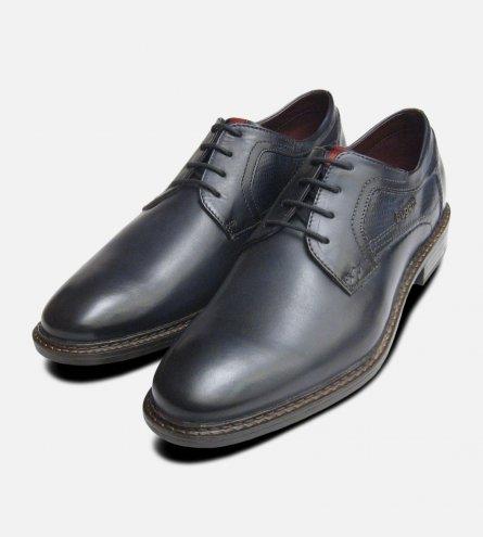 Navy Blue Designer Bugatti Lace Shoes