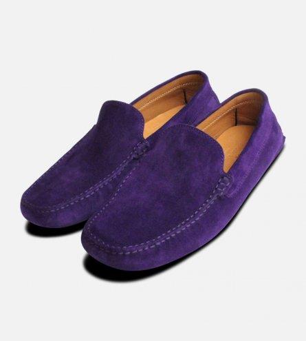Deep Purple Italian Moccasins by Arthur Knight Shoes