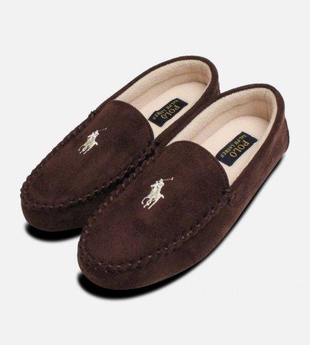 Ralph Lauren Dezi 3 Chocolate Brown Slippers