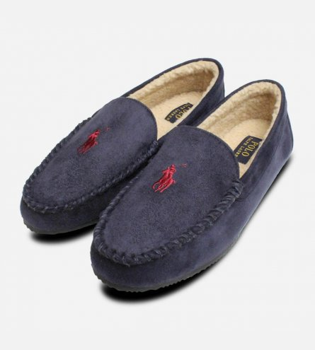 Ralph Lauren Polo Dezi 4 Navy Blue Mens Slippers