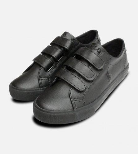 Black Ralph Lauren Polo Slater EZ School Shoes