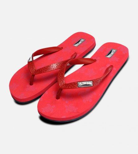 Vilebrequin Designer Red Flip Flops
