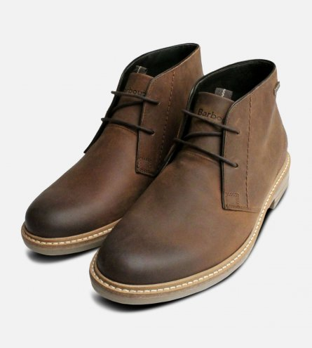 Brown Waxy Barbour Chukka Boots