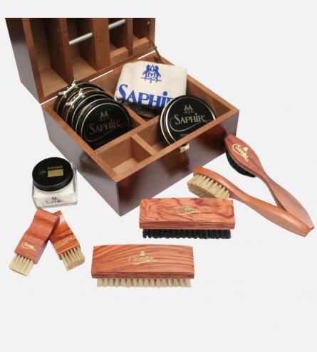 Saphir Mahogany Shoe Care Kit
