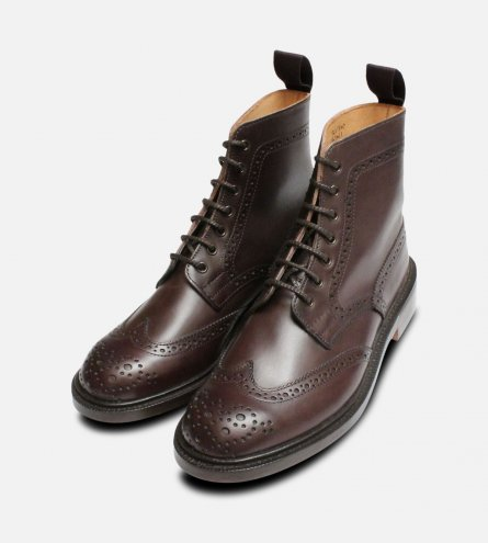 Ladies Dark Brown Trickers Stephy Country Boot Brogues