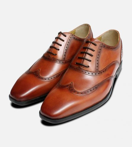 Steptronic Mens Brown Hastings Wingcap Oxford