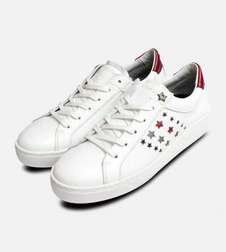 Tommy Hilfiger Star Suzie Trainers in White Leather