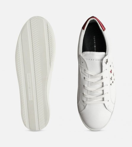 cb5fba0d35e7 Tommy Hilfiger Star Suzie Trainers in White Leather