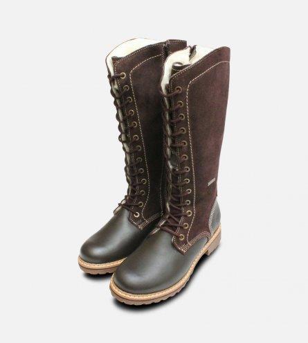 Tamaris Brown Long Boots with Duo Tex Membrane