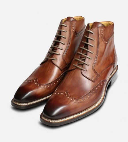 Exclusive Italian Urban Trekker in Burnished Brown