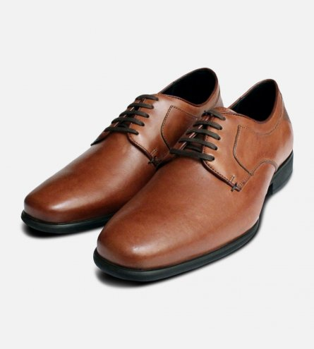 Formal Anatomic Tan Brown Lace Up Shoes