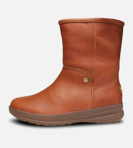 Panama Jack Ladies Low Cut Fur Chestnut Boots