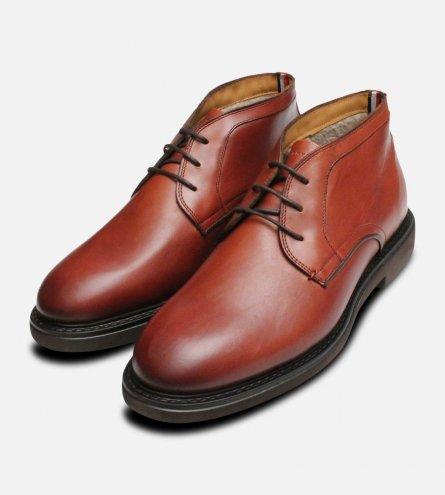 Tommy Hilfiger Luxury Cognac Austin Chukka Boots