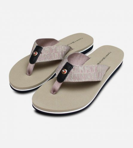 dc8340d72 Tommy Hilfiger Luxury Womens Flip Flop Sandals in Cobblestone