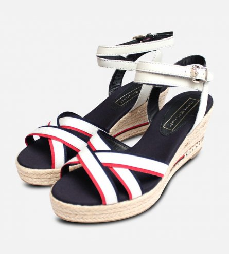 5332169fa356 ... Wedge Sandal. Tommy Hilfiger