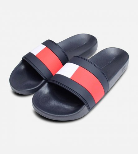 1b4992a9 Tommy Hilfiger Mens Iconic Red White & Blue Pool Sliders