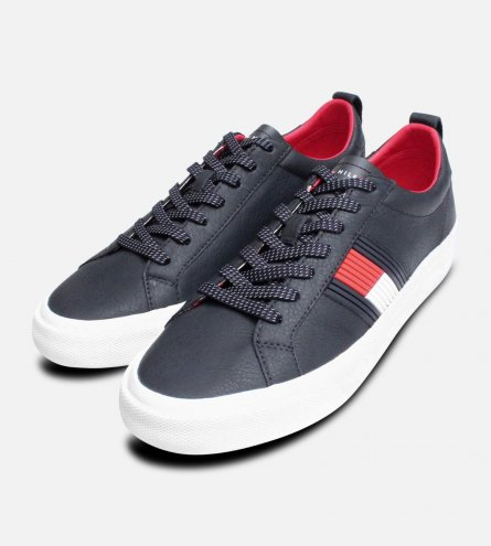 promo code b3e07 3517e Tommy Hilfiger Flag Detail Sneaker in Midnight Blue