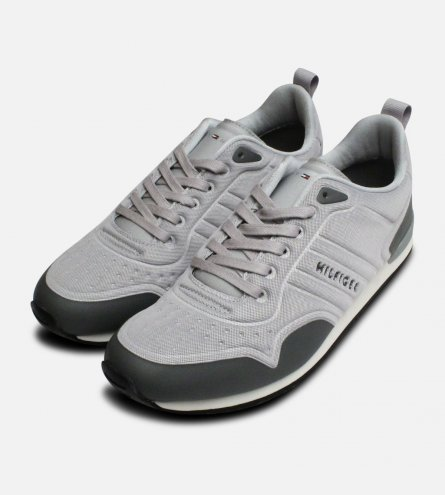 c1c4cb9a14b0e Light Grey Tommy Hilfiger Neoprene Designer Trainers