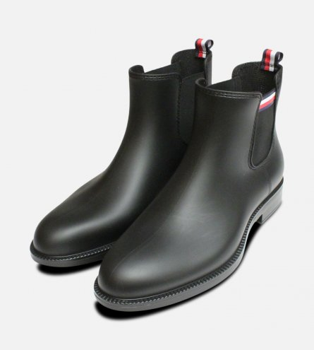 Stream Tommy Hilfiger Black Rubber Chelsea Wellies