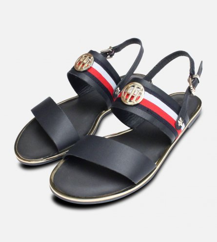 Tommy Hilfiger Flat Summer Sandals in Navy Blue