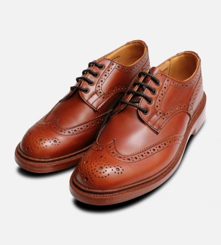 Trickers Anne Ladies Brown Brogue Shoes