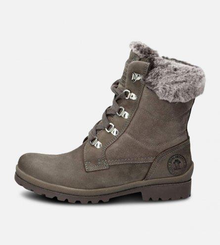 Grey Nubuck & Suede Panama Jack Ladies Boots