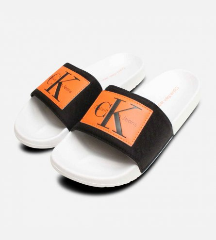 Vital Nylon Black & Orange Calvin Klein Beach Slides