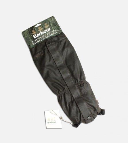 Waterproof Barbour Gaiters in Dark Waxy Green Cotton