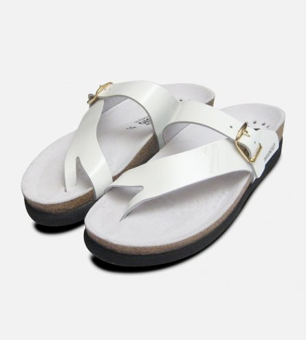Helen in White Patent Mephisto Sandals