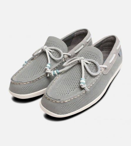 Light Grey Mens Wilton Weave Driver Bass Shoes