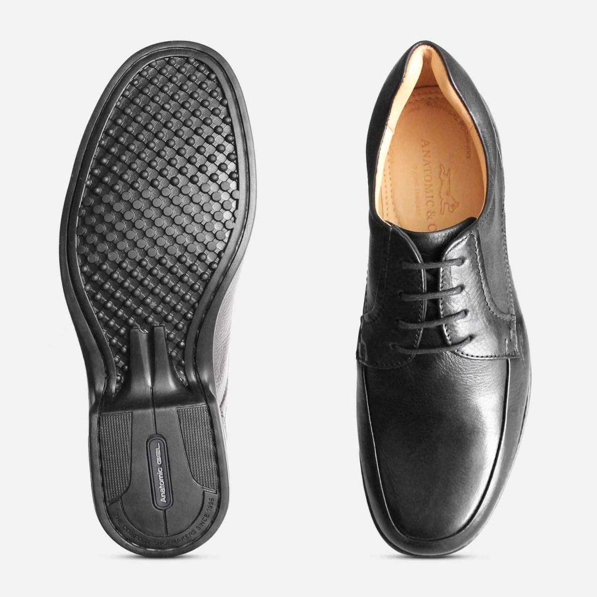 Co Formal Black Leather Mens Comfort Shoes