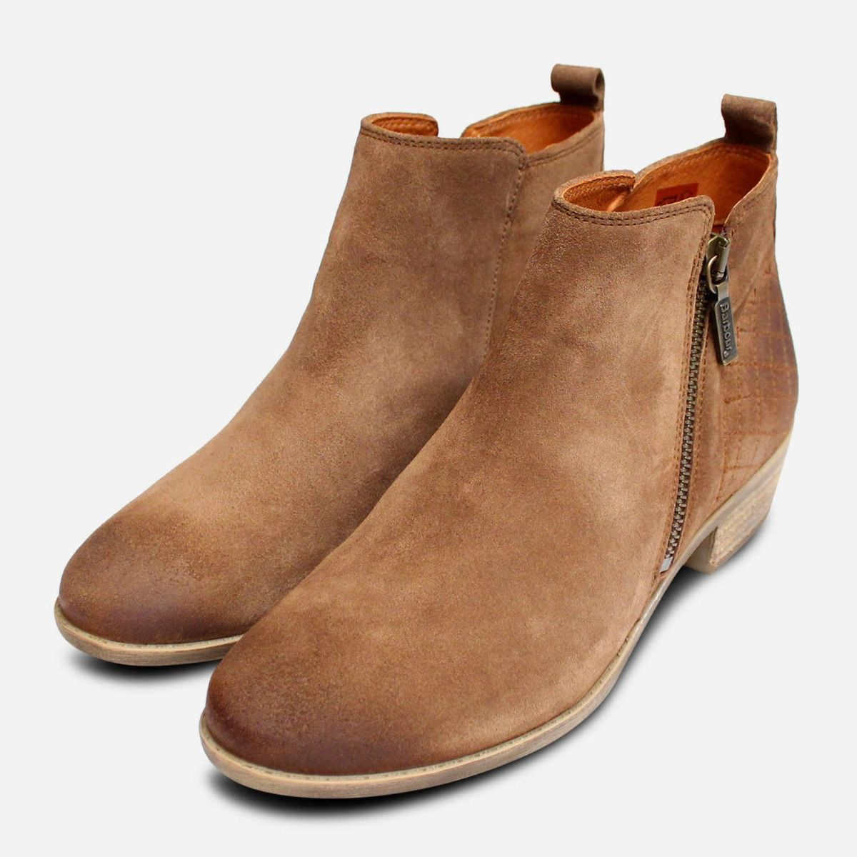Barbour Waxy Brown Tobacco Suede Side
