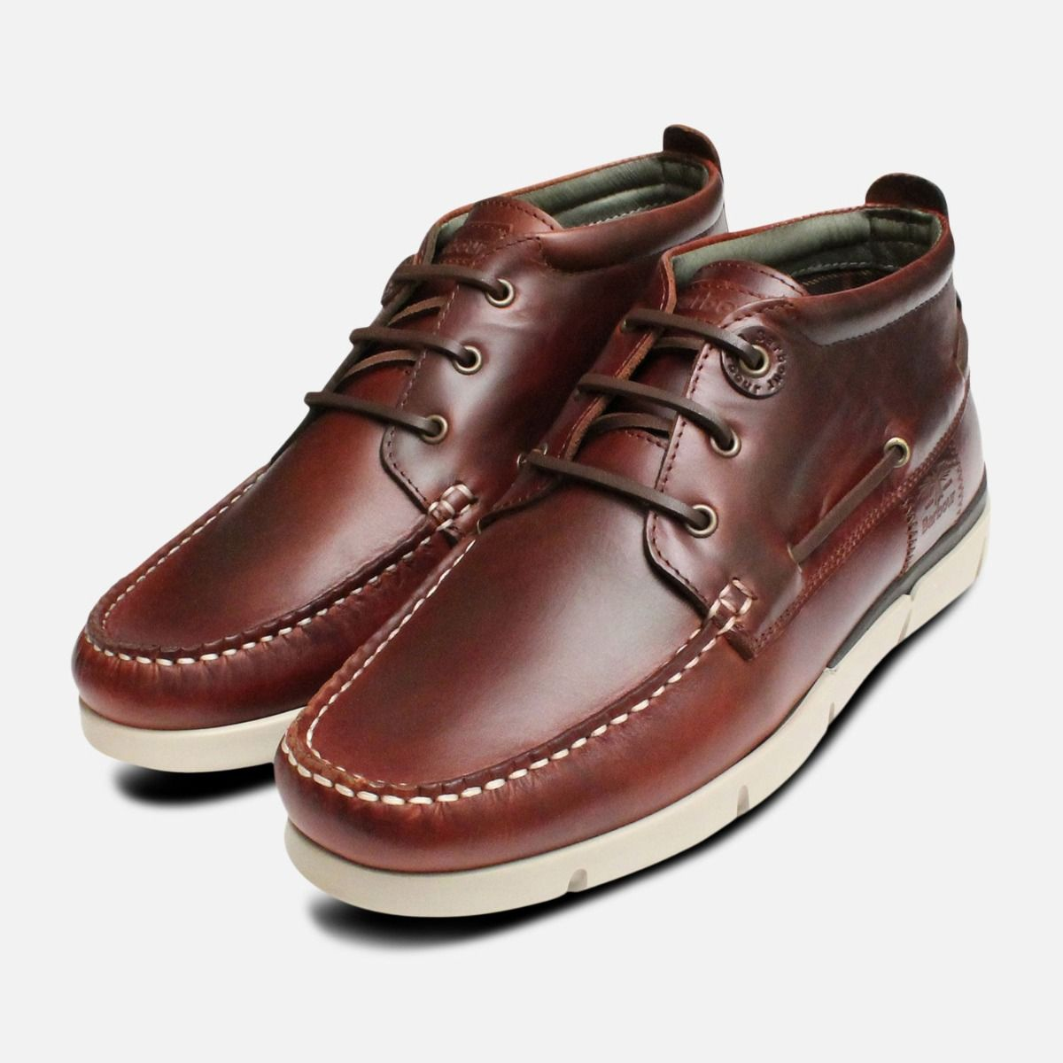 Luxury Barbour Mens Boat Shoes in Waxy