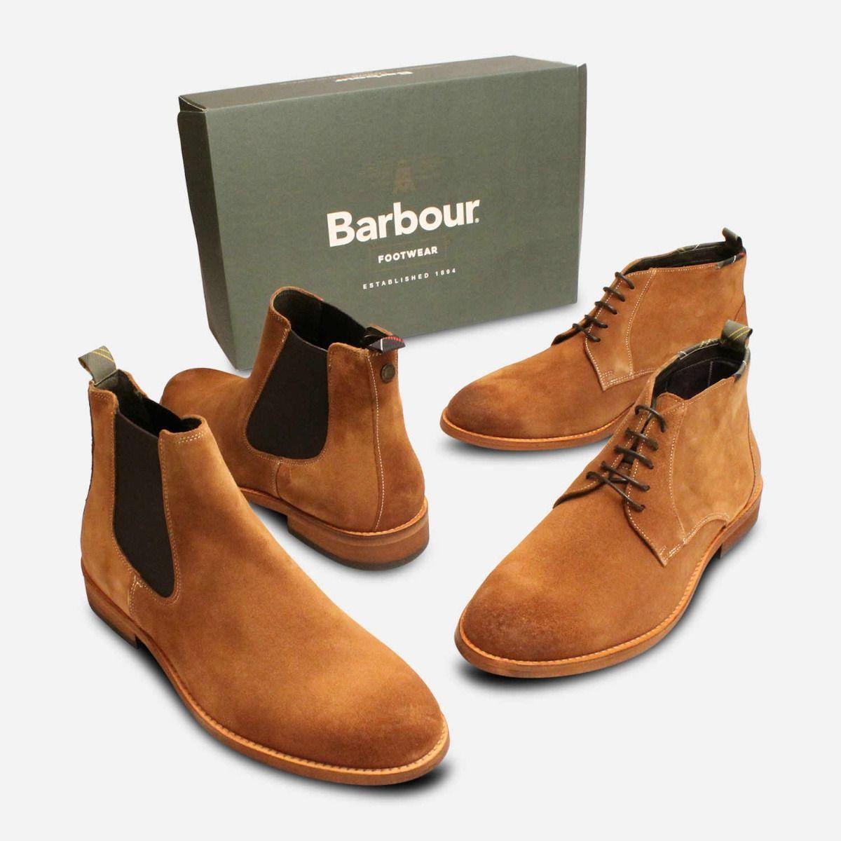 Barbour Designer Light Brown Suede