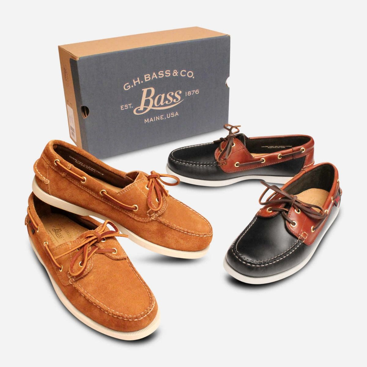 Dark Brown Leather Je Bass Boat Shoes