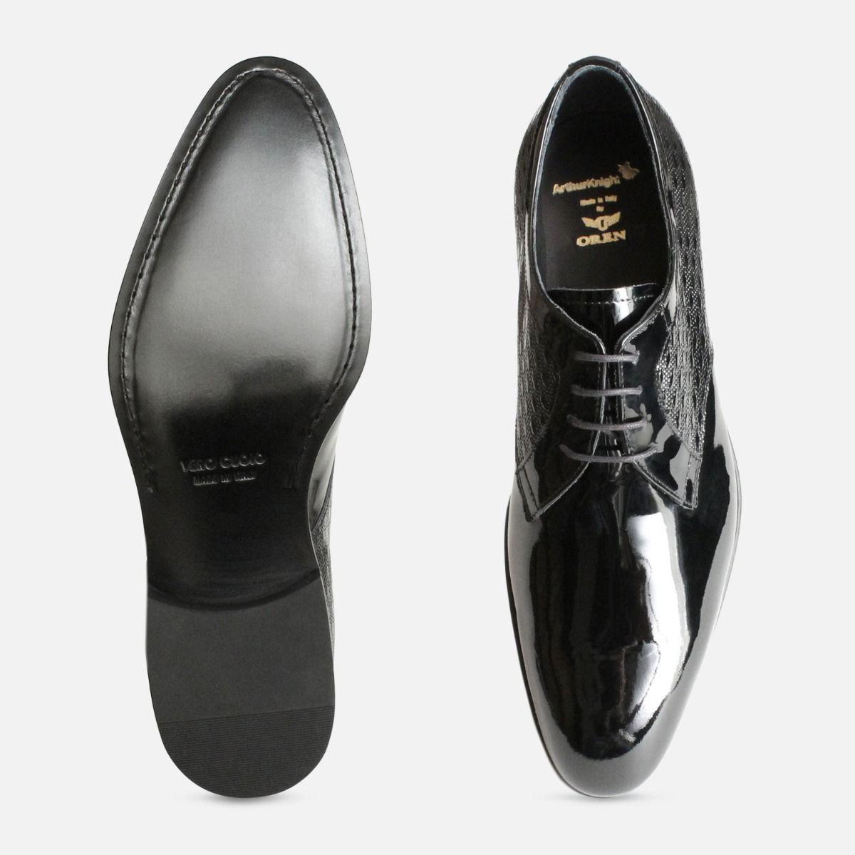 Italian Luxury Black Patent Leather