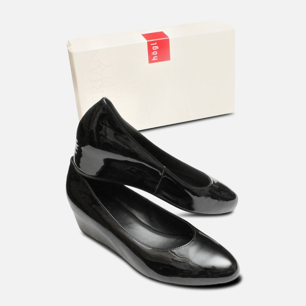 Hogl Black Patent Leather Lace-Up Oxford UK 4 /& 7 Only