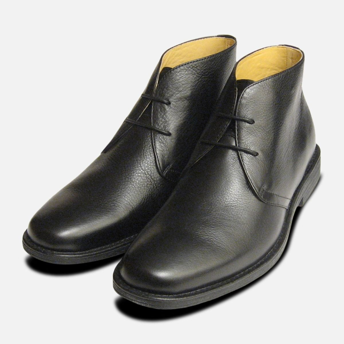 plain black lace up shoes
