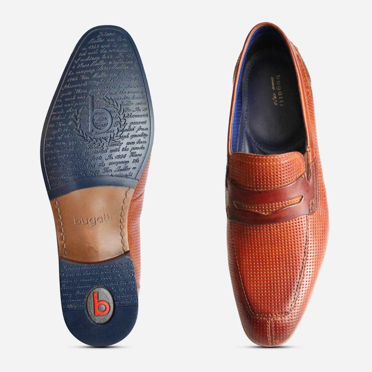 Designer Bugatti Mens Penny Loafers in